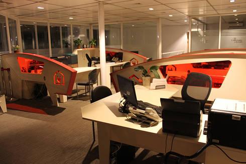 oficina comercial viña del mar: Oficinas y Comercios de estilo  por IDEAfactory
