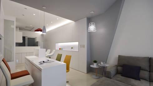 現代意象活力風:  餐廳 by 瓦悅設計有限公司
