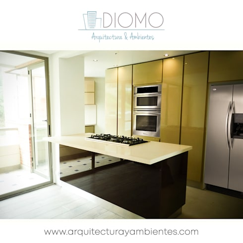 Cocina: Cocina de estilo  por Diomo Arquitectura y Ambientes