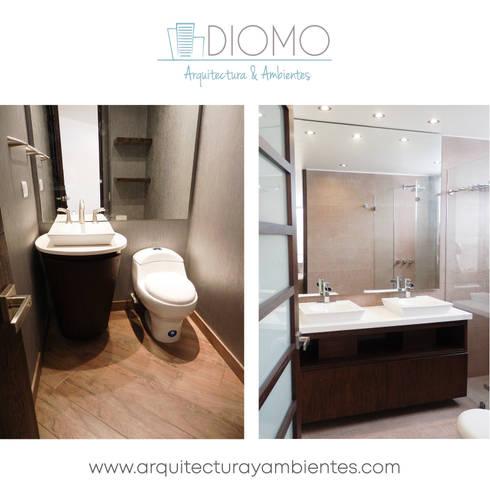 Baños: Baños de estilo moderno por Diomo Arquitectura y Ambientes