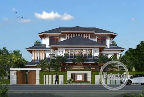 Phối cảnh mẫu thiết kế biệt thự hiện đại 3 tầng đẹp ( CĐT: Ông Hiệp - Ninh Bình) KT18009:   by Công Ty CP Kiến Trúc và Xây Dựng Betaviet