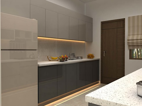 3BHK,Manish Nagar, Nagpur: modern Kitchen by Form & Function