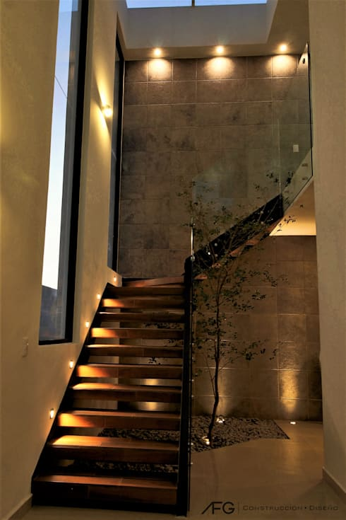 Escaleras de interior modernas para casas peque as y grandes for Escalera de jardin de madera