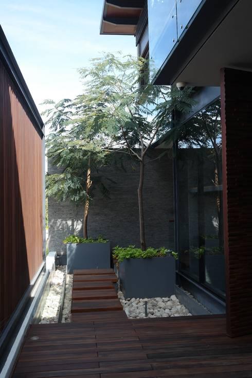 jardín interior: Jardines en la fachada de estilo  por Verde Lavanda