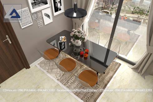 Thiết Kế Cải Tạo Căn Hộ 2 Phòng Ngủ – Tràng An Complex:  Phòng ăn by Thiết Kế Nội Thất CDmax