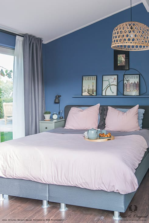 Licetto in de kleur Greek Sky:  Slaapkamer door Pure & Original