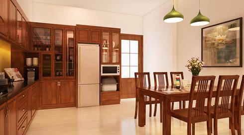 Mẫu Thiết Kế Nhà Phố 4 Tầng 4,3x20m Kết Hợp Ở Và Kinh Doanh:  Phòng ăn by Công ty TNHH Xây Dựng TM – DV Song Phát