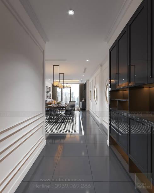 Thiết kế nội thất Vinhomes Central Park – Phong cách Đông Dương:  Cửa ra vào by ICON INTERIOR