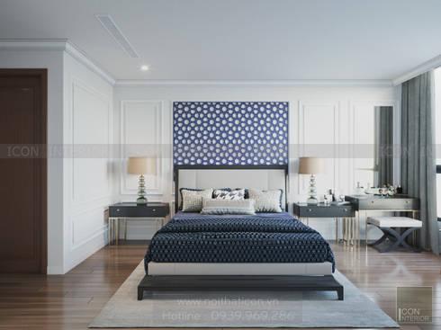 Thiết kế nội thất Vinhomes Central Park – Phong cách Đông Dương:  Phòng ngủ by ICON INTERIOR