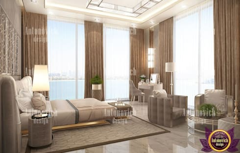 ​Home design styles of Katrina Antonovich: modern Bedroom by Luxury Antonovich Design