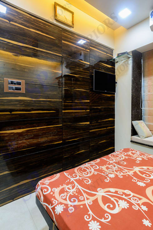 VarunJhaveri: modern Bedroom by SP INTERIORS