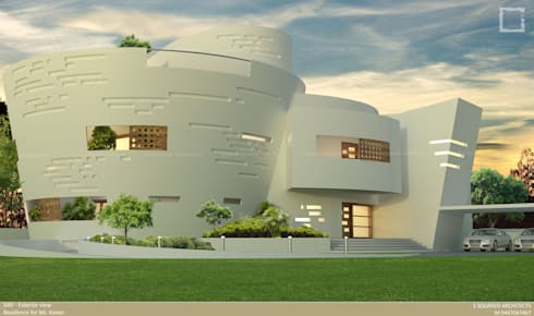 The UFO House:  Bungalows by S Squared Architects Pvt Ltd
