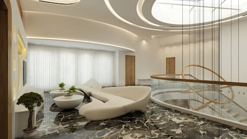 The UFO House: modern Living room by S Squared Architects Pvt Ltd
