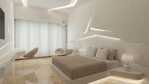 The UFO House: modern Bedroom by S Squared Architects Pvt Ltd