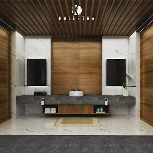 Interior Kamar Mandi Villa Sulung:   by Kolletra Studio