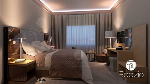 Modern Bedroom Interior Design In An Apartment In Dubai