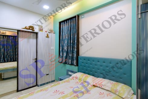 Ritesh bhai: modern Bedroom by SP INTERIORS