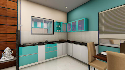 Mali Residence @ Islampur (Maharashtra): classic Kitchen by Cfolios Design And Construction Solutions Pvt Ltd