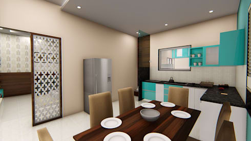 Mali Residence @ Islampur (Maharashtra): classic Dining room by Cfolios Design And Construction Solutions Pvt Ltd