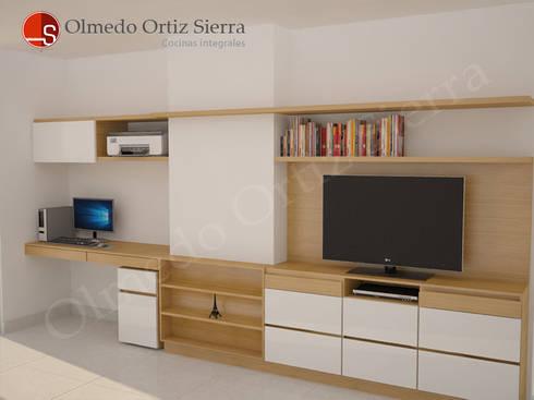 Diseño de Mueble Para Televisor:  de estilo  por Cocinas Integrales Olmedo Ortiz Sierra