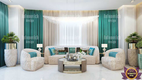 ​House Design in LA from Katrina Antonovich: eclectic Bedroom by Luxury Antonovich Design