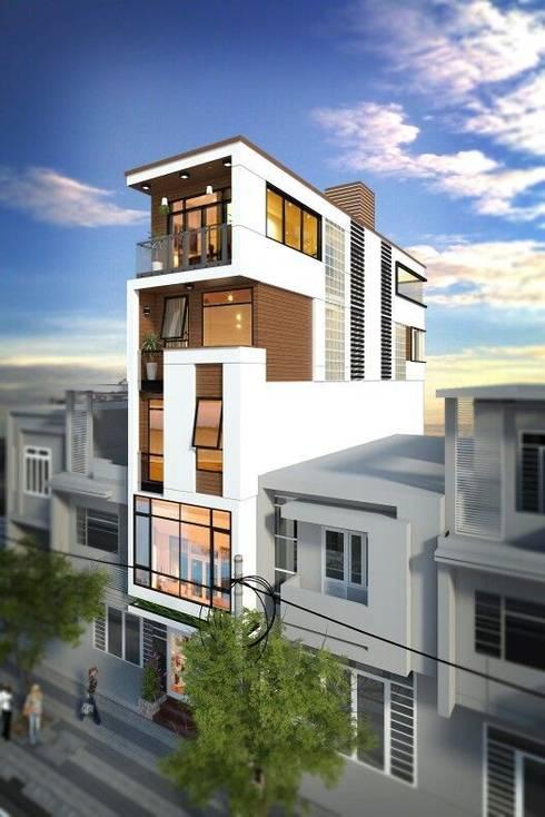 Mẫu nhà ống lệch tầng tầng đẹp – 02:  Nhà by Công ty TNHH Thiết Kế Xây Dựng Song Phát