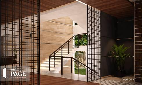 VILLA VŨNG TÀU:  Cầu thang by The Page Interior & Design