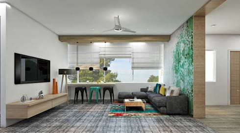 Residence: eclectic Living room by Designism