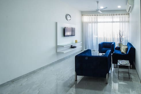 Residence: minimalistic Living room by Designism