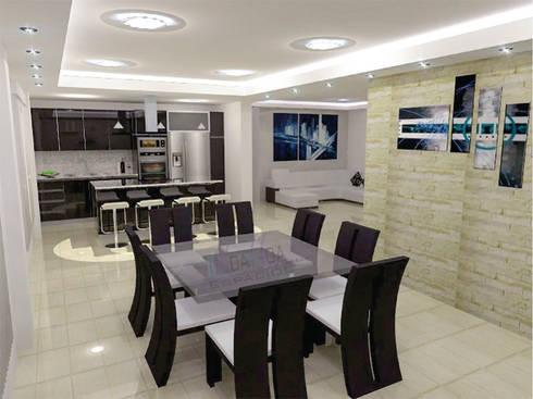 Comedores: Comedores de estilo moderno por HoaHoa Espacios SAS
