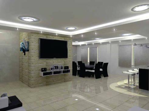 sala: Salas de estilo moderno por HoaHoa Espacios SAS