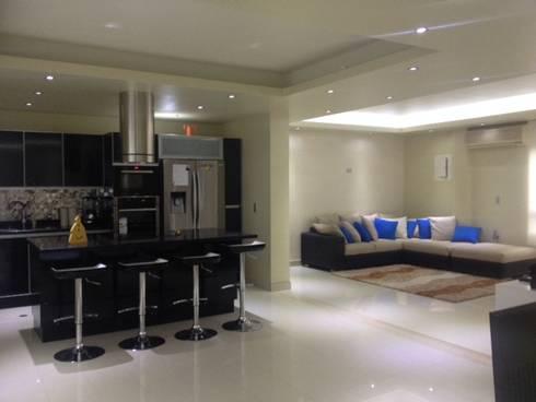 sala cocina: Salas de estilo moderno por HoaHoa Espacios SAS