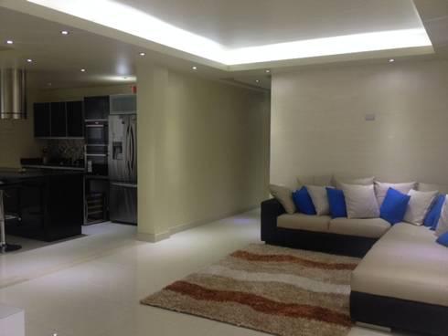 salas: Salas de estilo moderno por HoaHoa Espacios SAS
