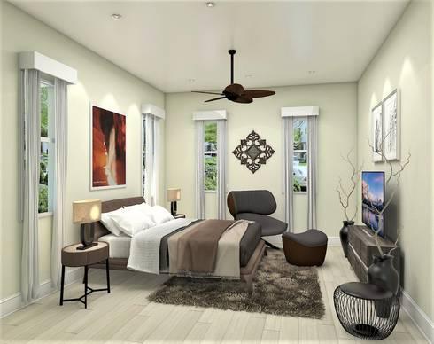 Casa Allea Guest Bedroom: modern Bedroom by Constantin Design & Build