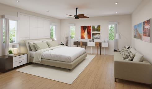 Casa Allea Master's Bedroom: modern Bedroom by Constantin Design & Build