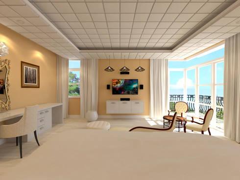 Chateau de Boudreault Master's Bedroom 2 : mediterranean Bedroom by Constantin Design & Build