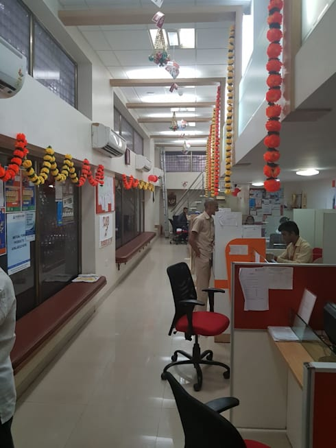 bank interiors:  Office buildings by Nova Interiors