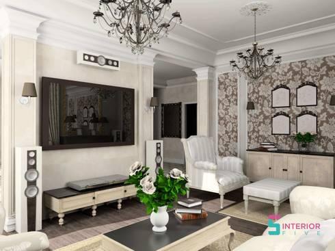 Living Room Interior Design: asian Living room by Interior Five