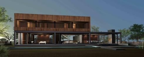 Casa Chicureo: Casas de estilo minimalista por Nicolas Loi + Arquitectos Asociados