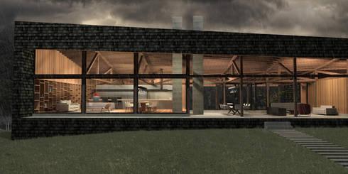 Casa Lago Ranco: Casas de estilo minimalista por Nicolas Loi + Arquitectos Asociados