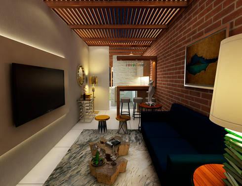 Proyecto ED: Salas / recibidores de estilo moderno por Luis Escobar Interiorismo