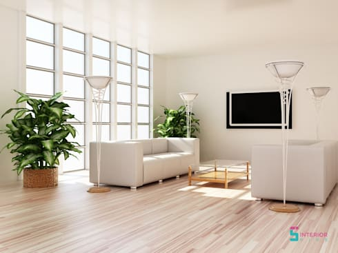 Living Room: asian Living room by Interior Five