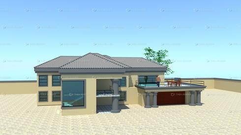 two storey house design:   by COMFORT MAYINGANI ARCHTECTZ