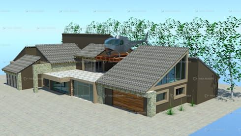 contemporary house design:   by COMFORT MAYINGANI ARCHTECTZ