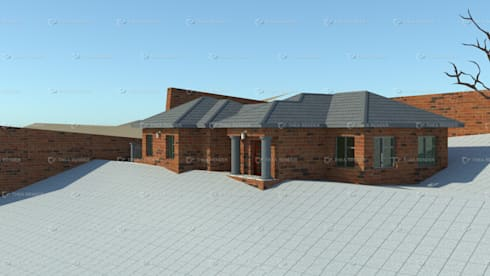 redbrick house design:   by COMFORT MAYINGANI ARCHTECTZ