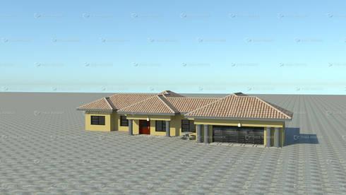standard single storey:   by COMFORT MAYINGANI ARCHTECTZ