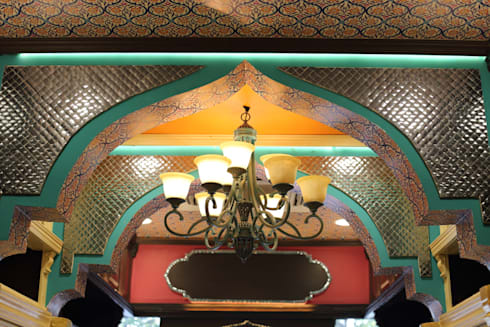 SYMETREE JEWELRY STORE, KHAN MARKET, NEW DELHI:  Lean-to roof by Total Interiors Solutions Pvt. ltd.