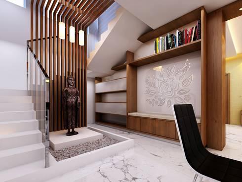 Triplex Villa:   by Elegant Architects and Interior Designers