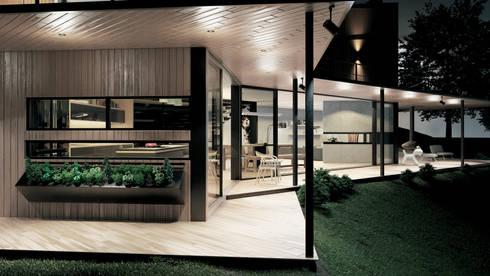 Casa C-J: Terrazas de estilo  por Adrede Diseño