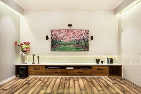 CHATTARPUR FARM HOUSE, NEW DELHI: eclectic Media room by Total Interiors Solutions Pvt. ltd.